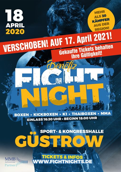 VERSCHOBEN – Benefiz Fight Night