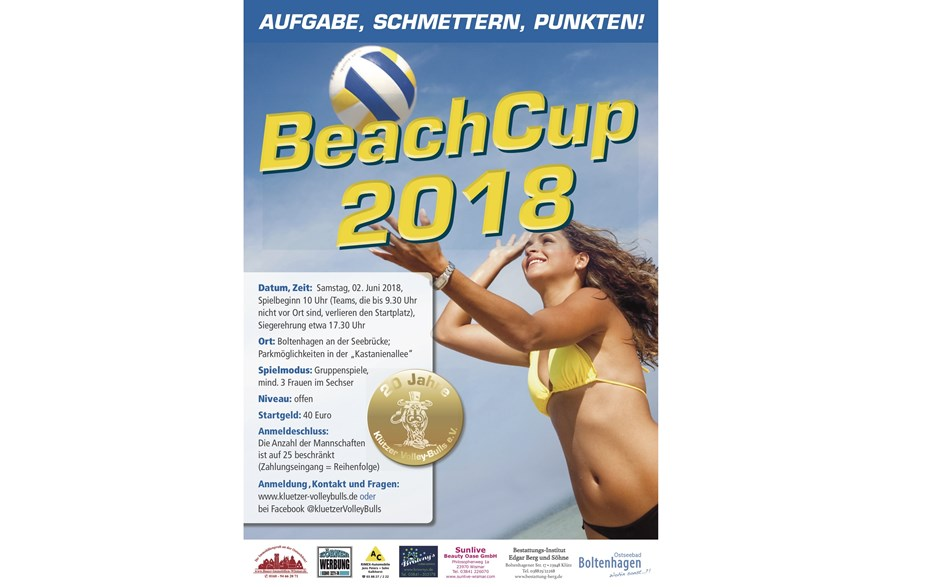 Flyer Volleyball BeachCup 2018 ©